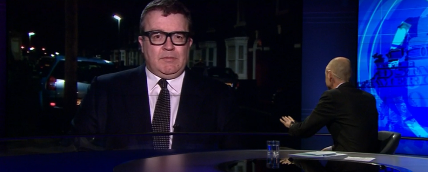 A quick live for Newsnight